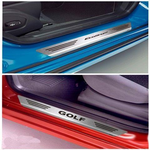 Soleira De Aço Inox  Escovado Chevrolet Celta