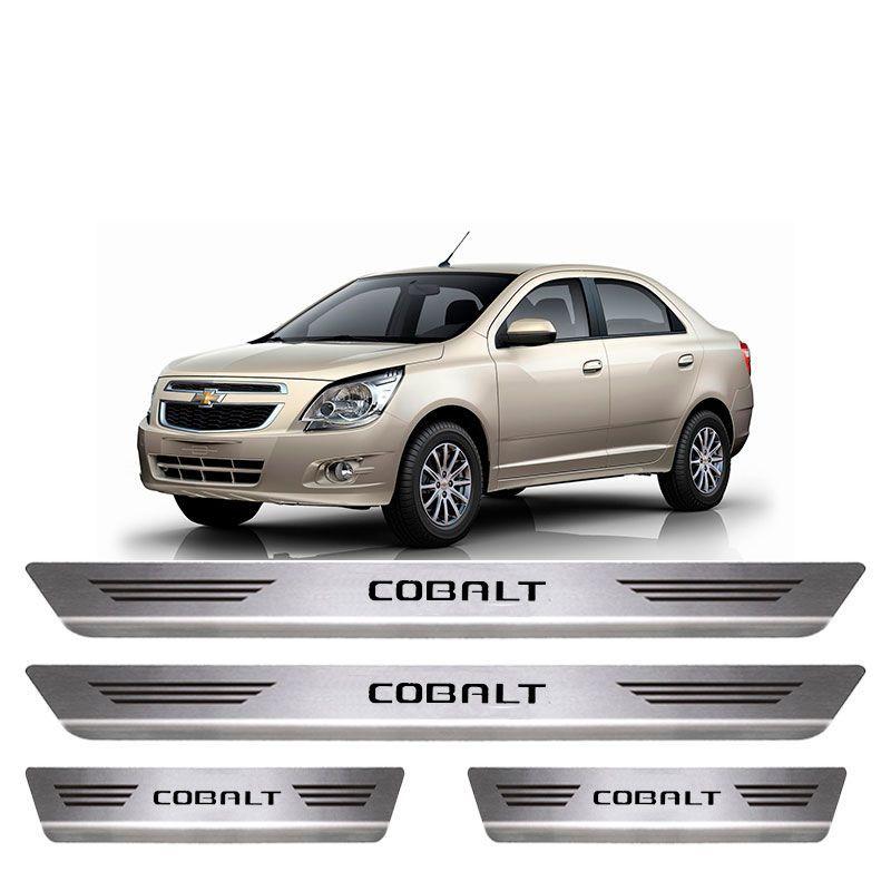 Soleira De Aço Inox  Escovado Chevrolet Cobalt