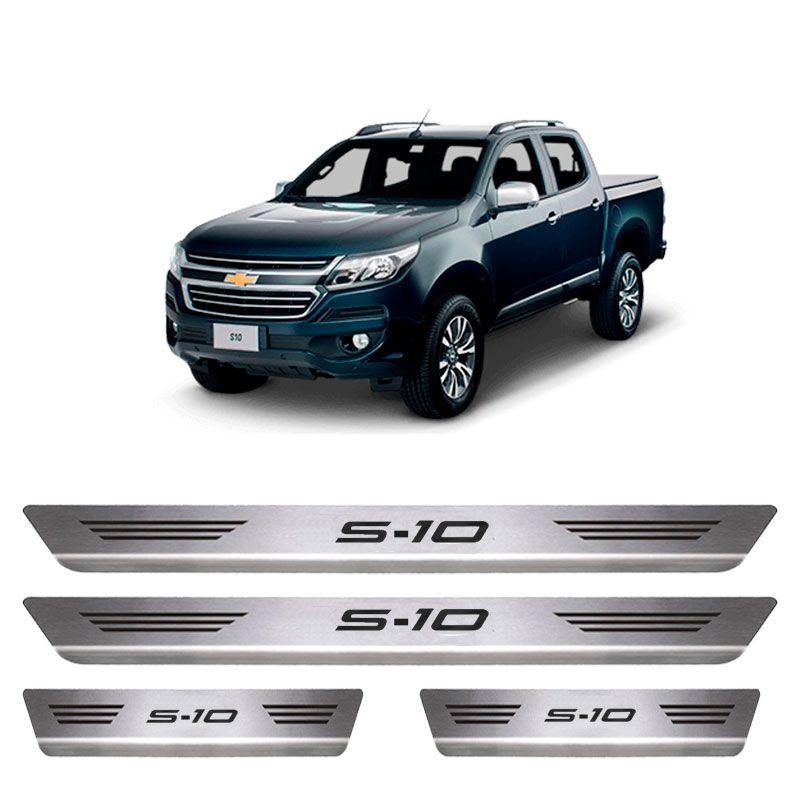 Soleira De Aço Inox  Escovado Chevrolet S-10
