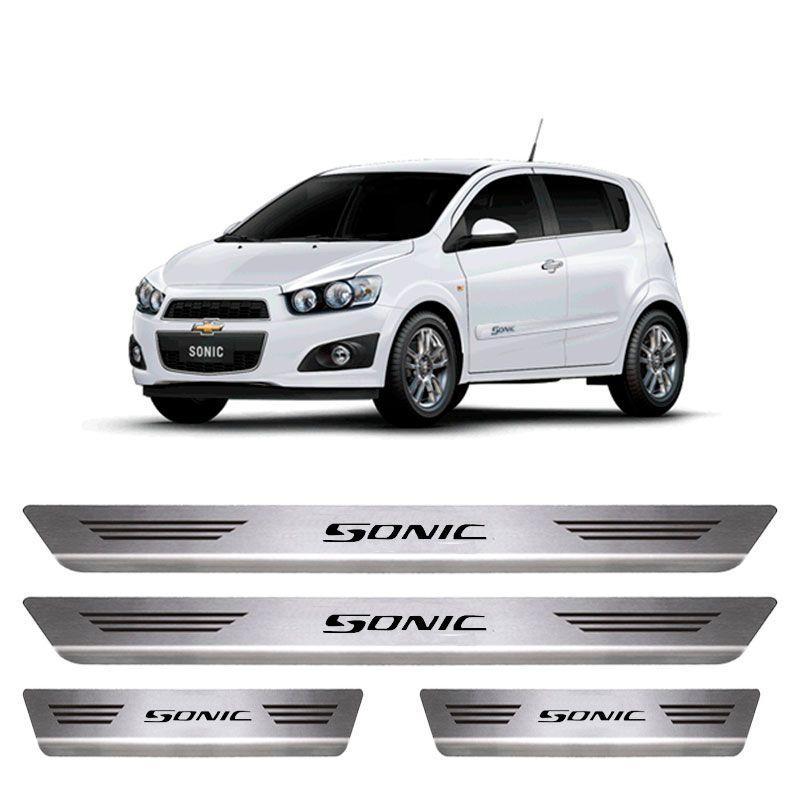Soleira De Aço Inox  Escovado Chevrolet Sonic
