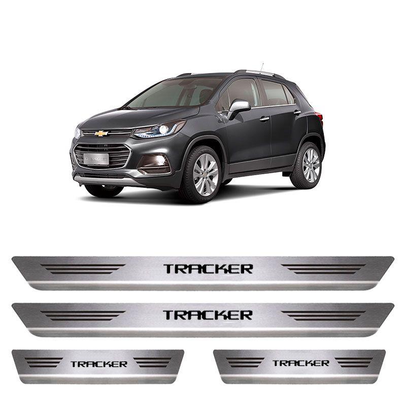 Soleira De Aço Inox  Escovado Chevrolet Tracker