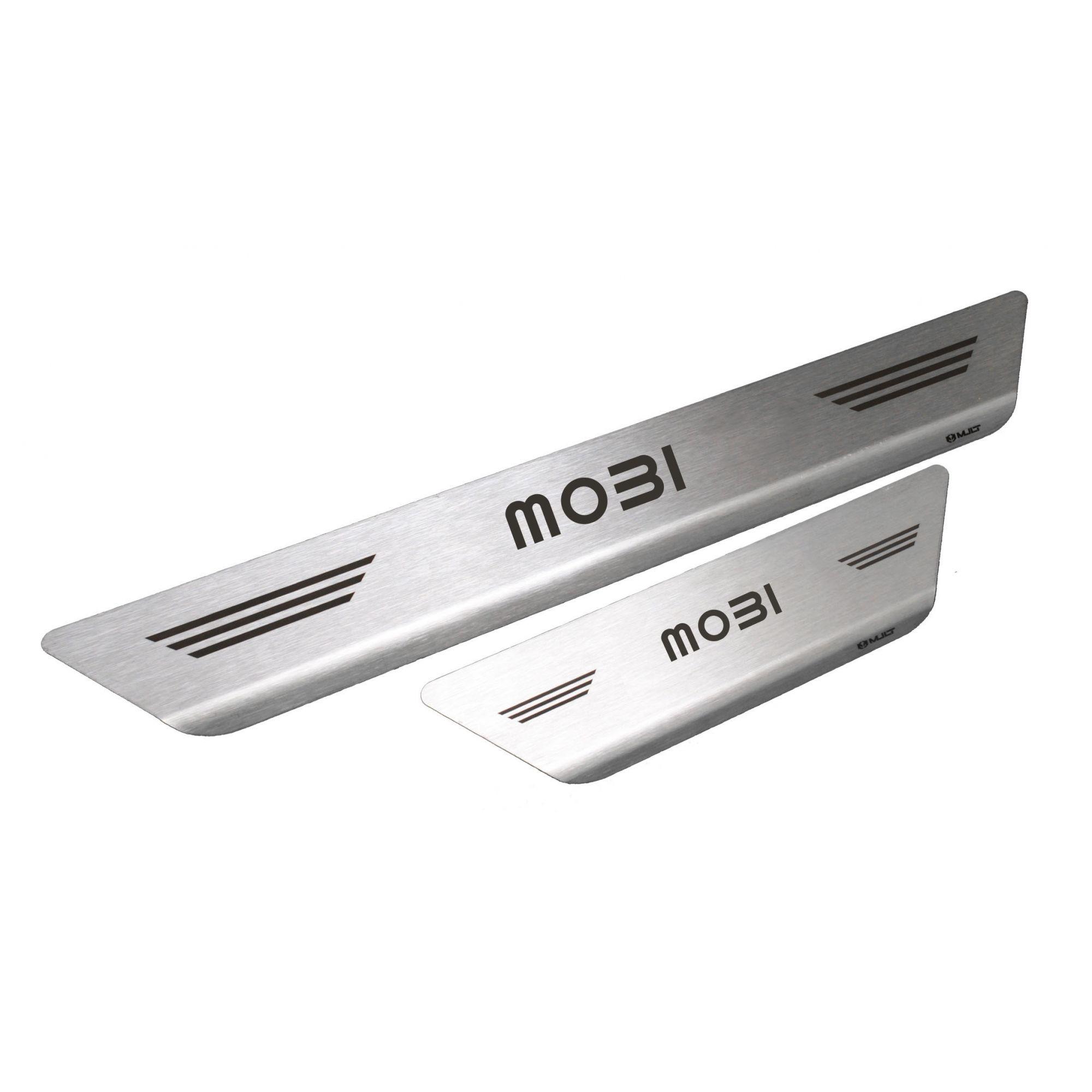 Soleira De Aço Inox  Escovado Fiat Mobi