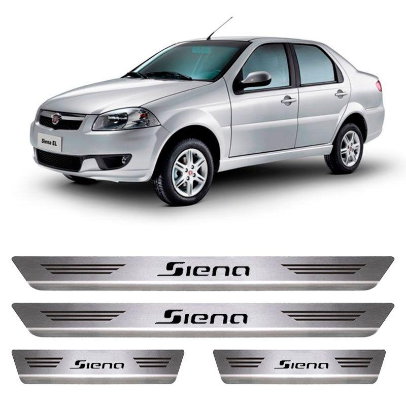 Soleira De Aço Inox  Escovado Fiat Siena