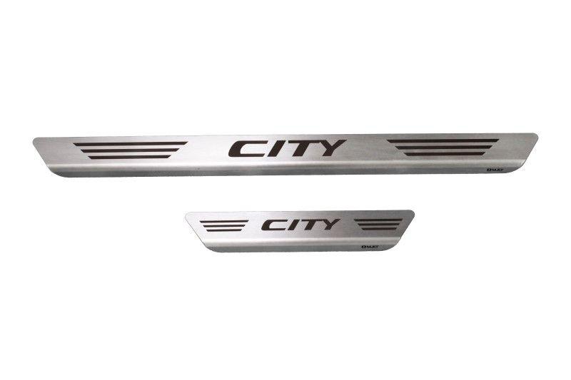 Soleira De Aço Inox  Escovado Honda City