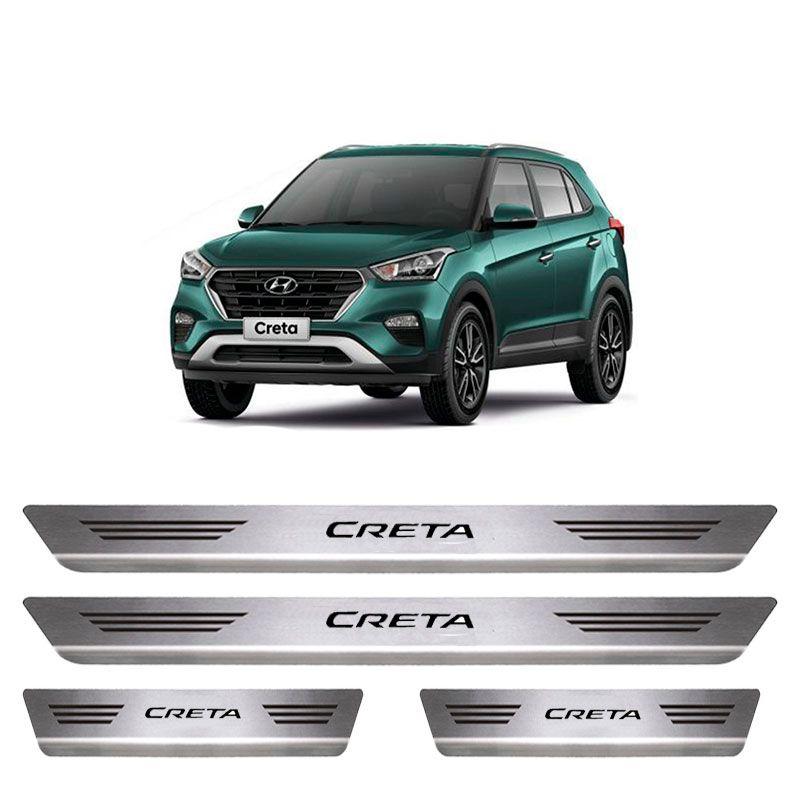 Soleira De Aço Inox  Escovado Hyundai Creta