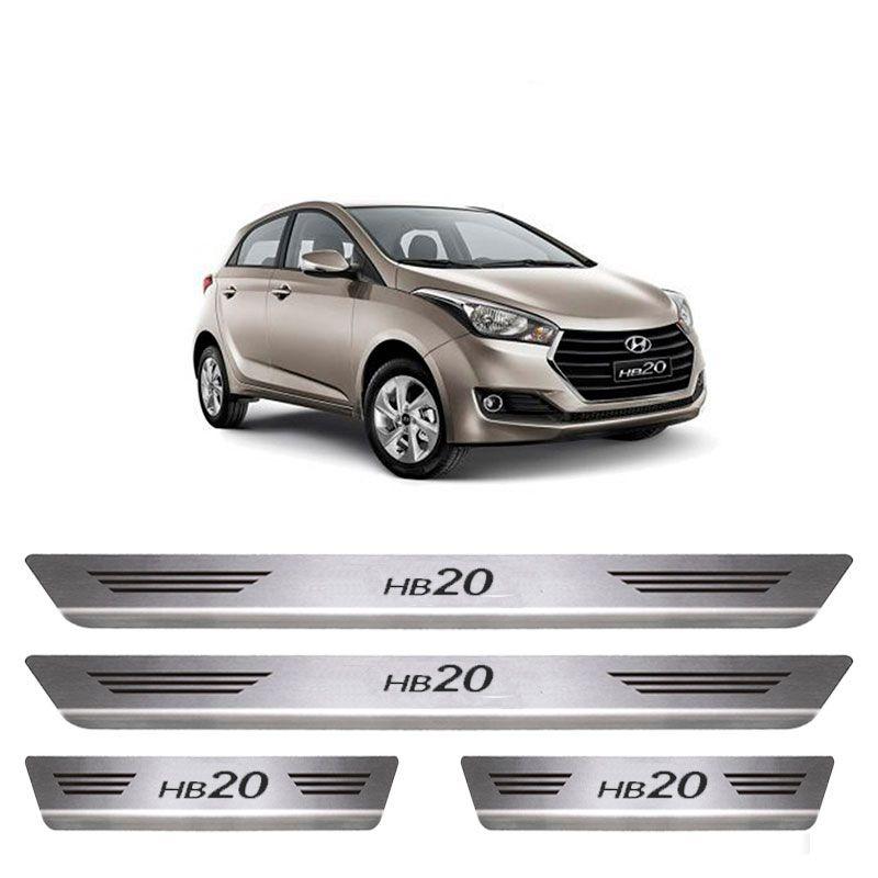 Soleira De Aço Inox  Escovado Hyundai HB20