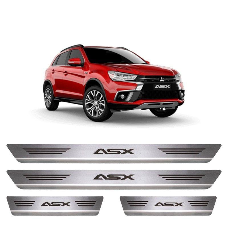 Soleira De Aço Inox  Escovado Mitsubishi ASX