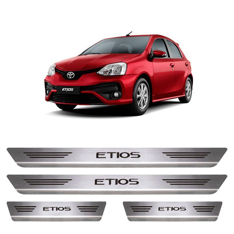 Soleira De Aço Inox  Escovado Toyota Etios