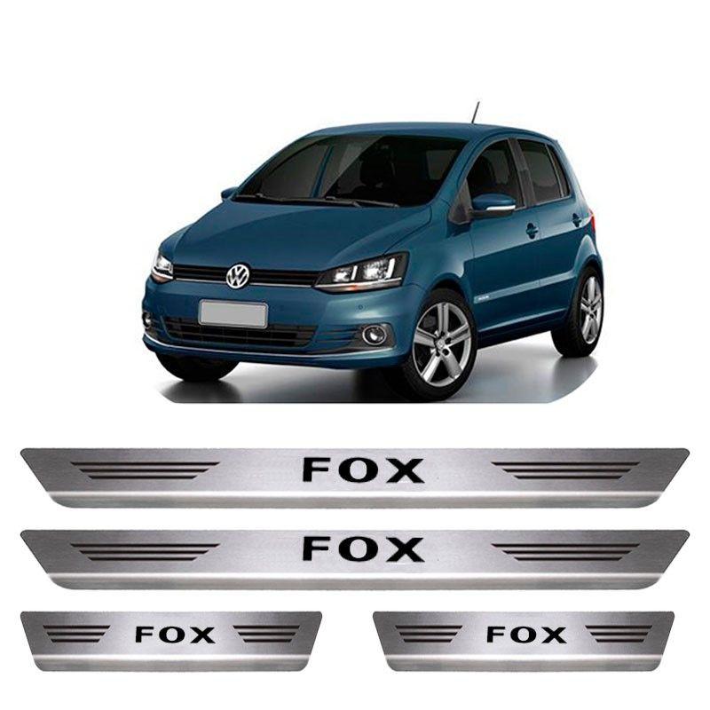 Soleira De Aço Inox  Escovado Volkswagen Fox