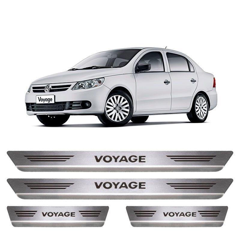 Soleira De Aço Inox Escovado Volkswagen Voyage
