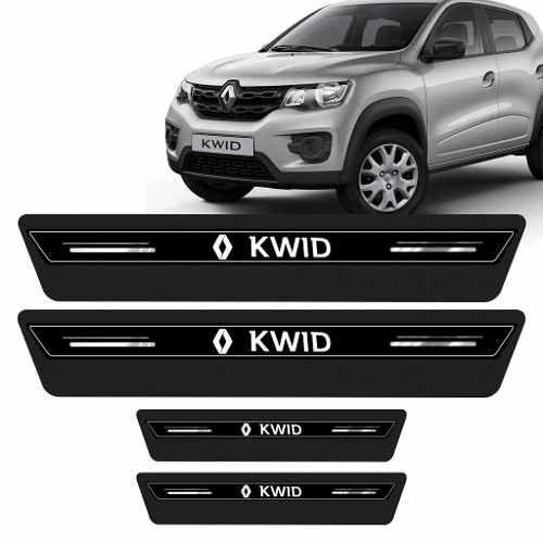 Soleira Protetor De Porta Preta Platinum Renault Kwid 2018 2019 2020 20221