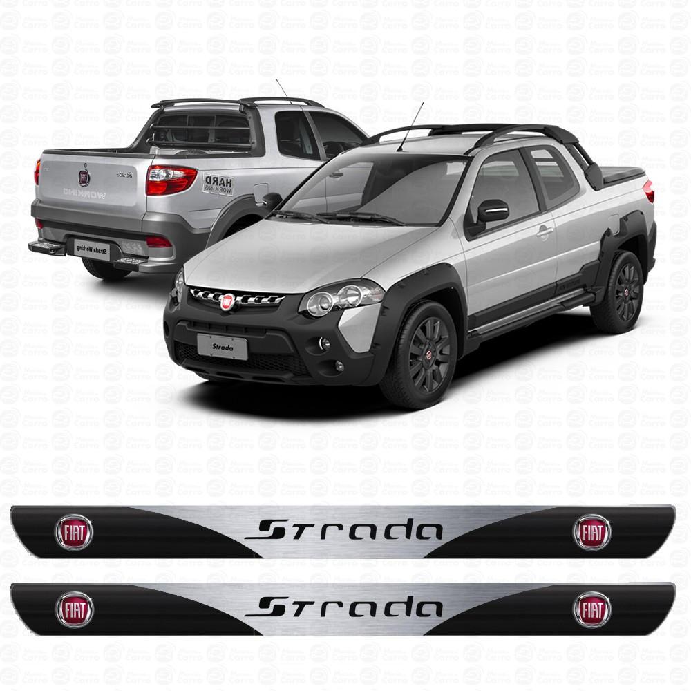 Soleira Resinada Personalizada para Fiat Strada