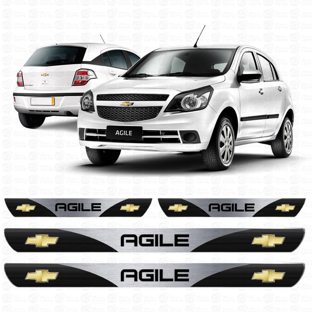 Soleira Resinada Personalizada para GM Chevrolet Agile