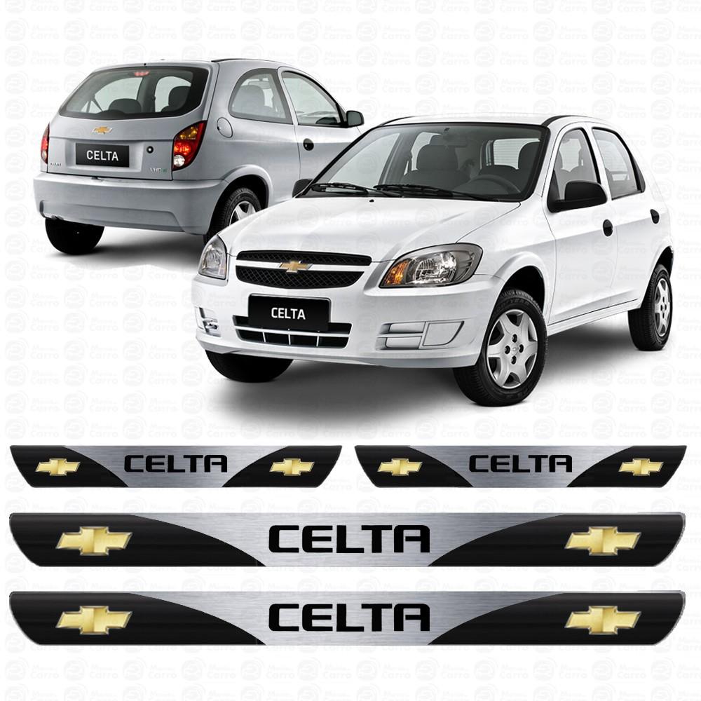 Soleira Resinada Personalizada para GM Chevrolet Celta