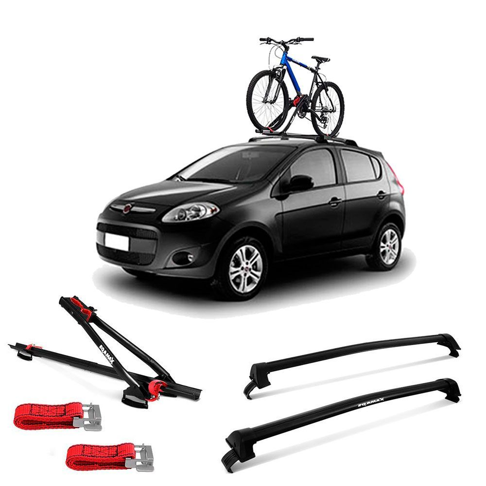 Suporte Para Bicicleta + Rack De Teto New Wave Fiat Palio