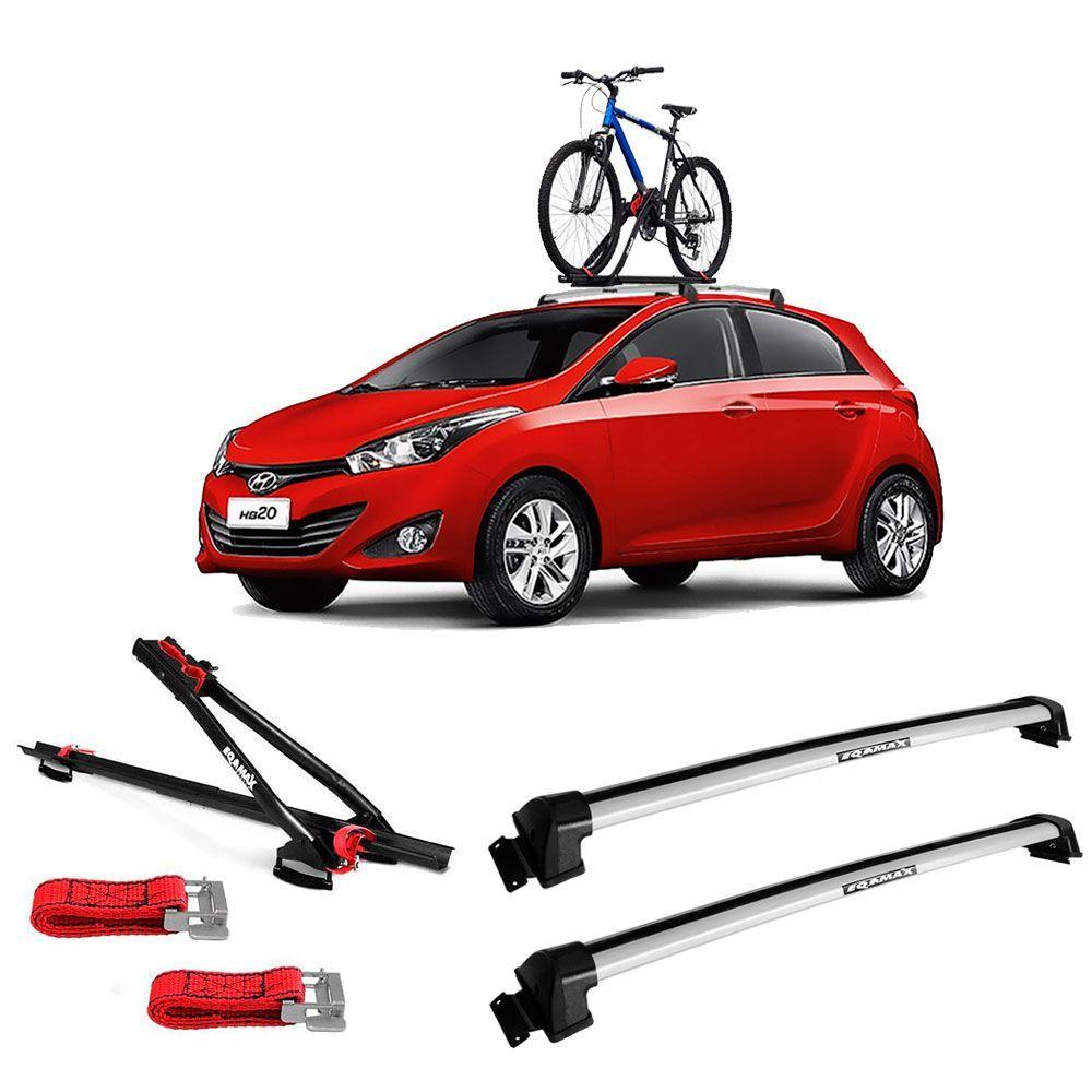 Suporte Para Bicicleta + Rack De Teto New Wave Hyundai HB20