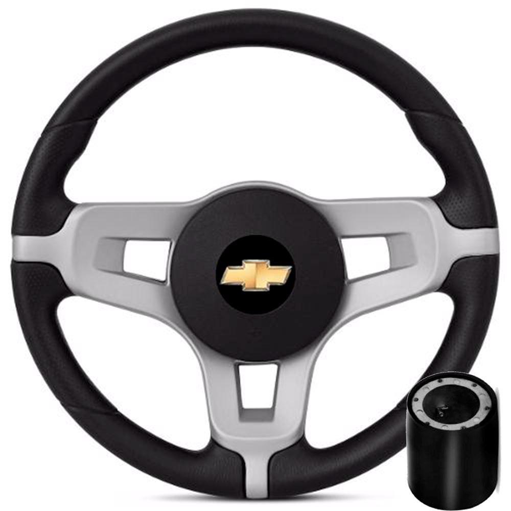 Volante esportivo Chevrolet Prata + Cubo Corsa, Celta, Montana, Prisma Wind, Classic
