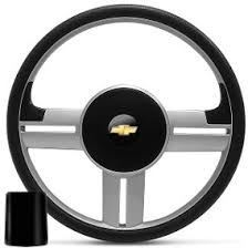 Volante Esportivo Chevrolet Rallye Prata + Cubo para Corsa, Celta, Astra, Kadett e outros -
