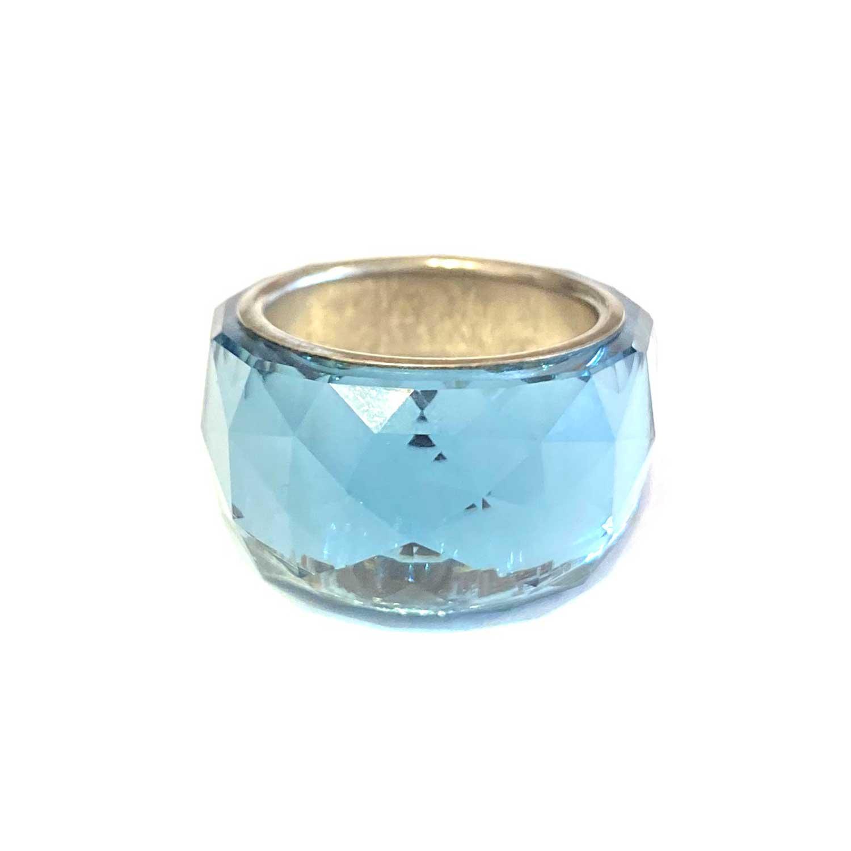 Anel Swarovski Nirvana Azul