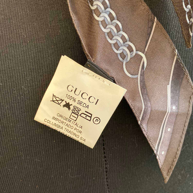 Blusa Gucci Seda Frente Única