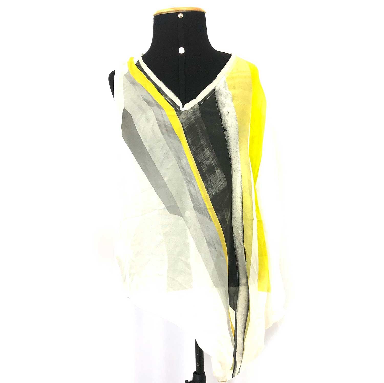 Blusa Helmut Lang Assimétrica Amarela