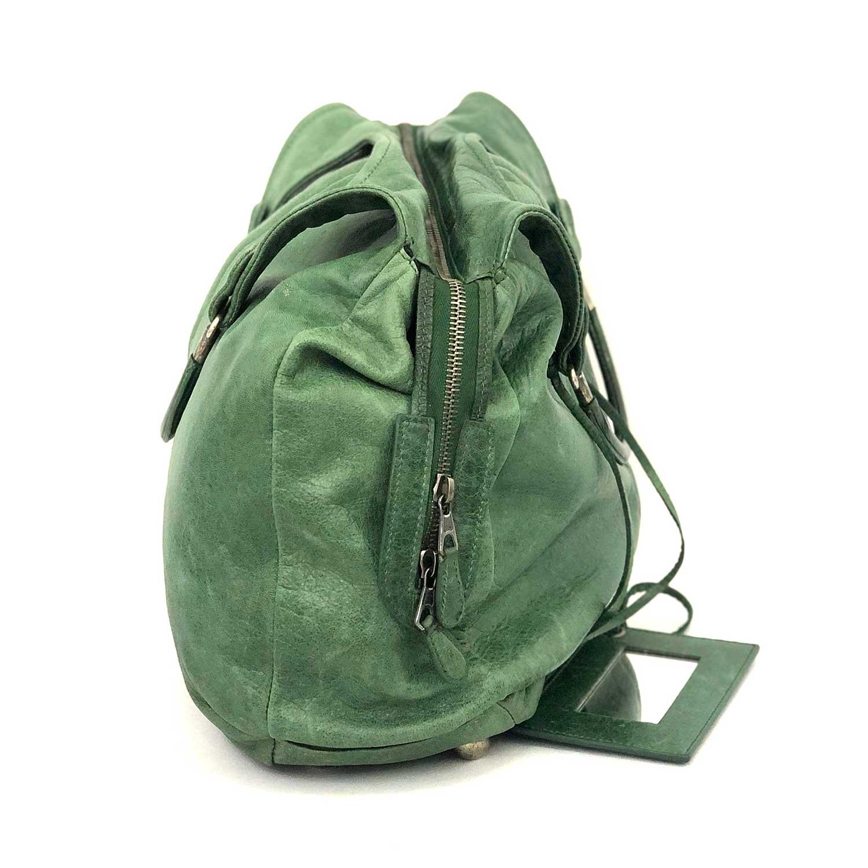 Bolsa Balenciaga Ring Handle Hobo Verde