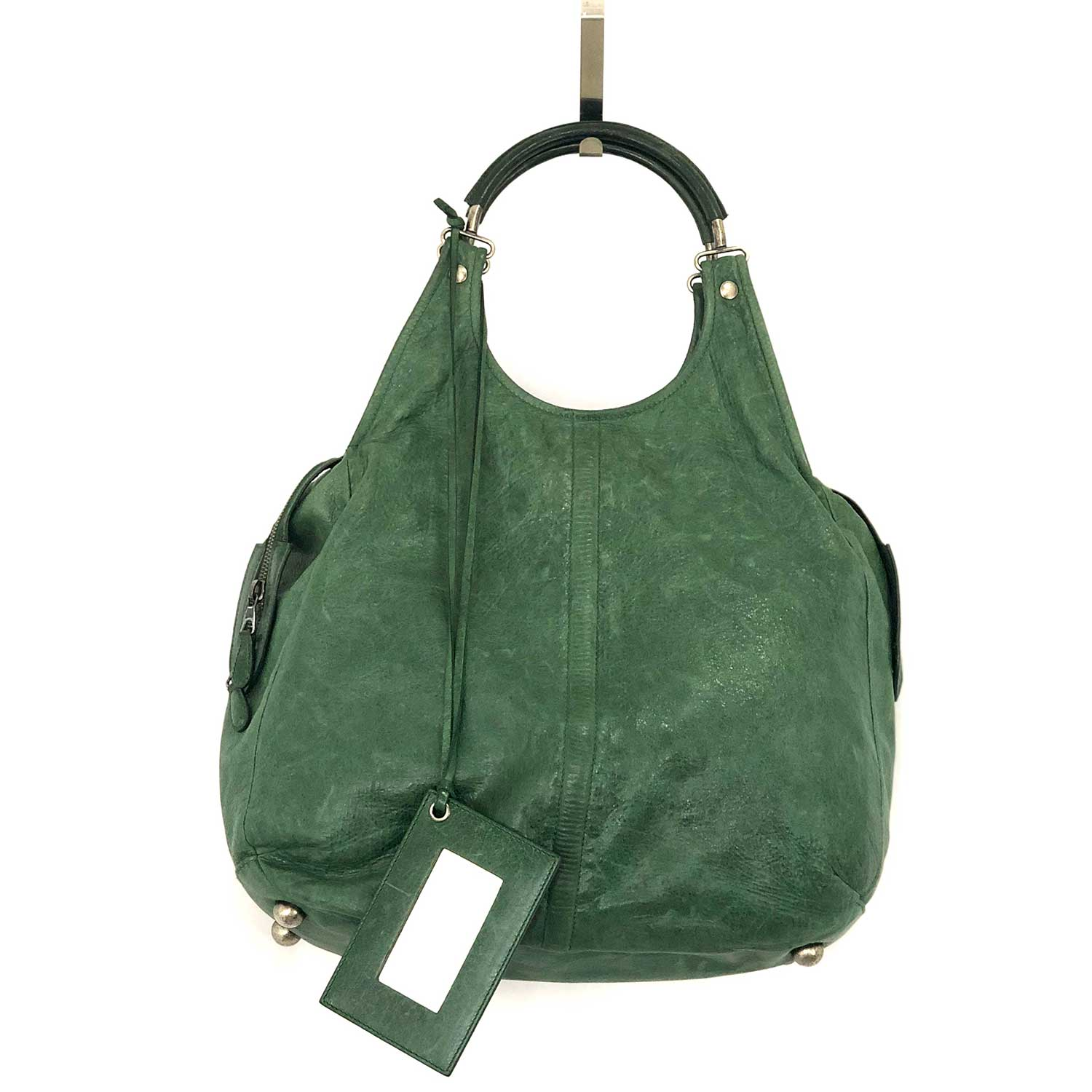 Bolsa Balenciaga Ring Handle Hobo Verde