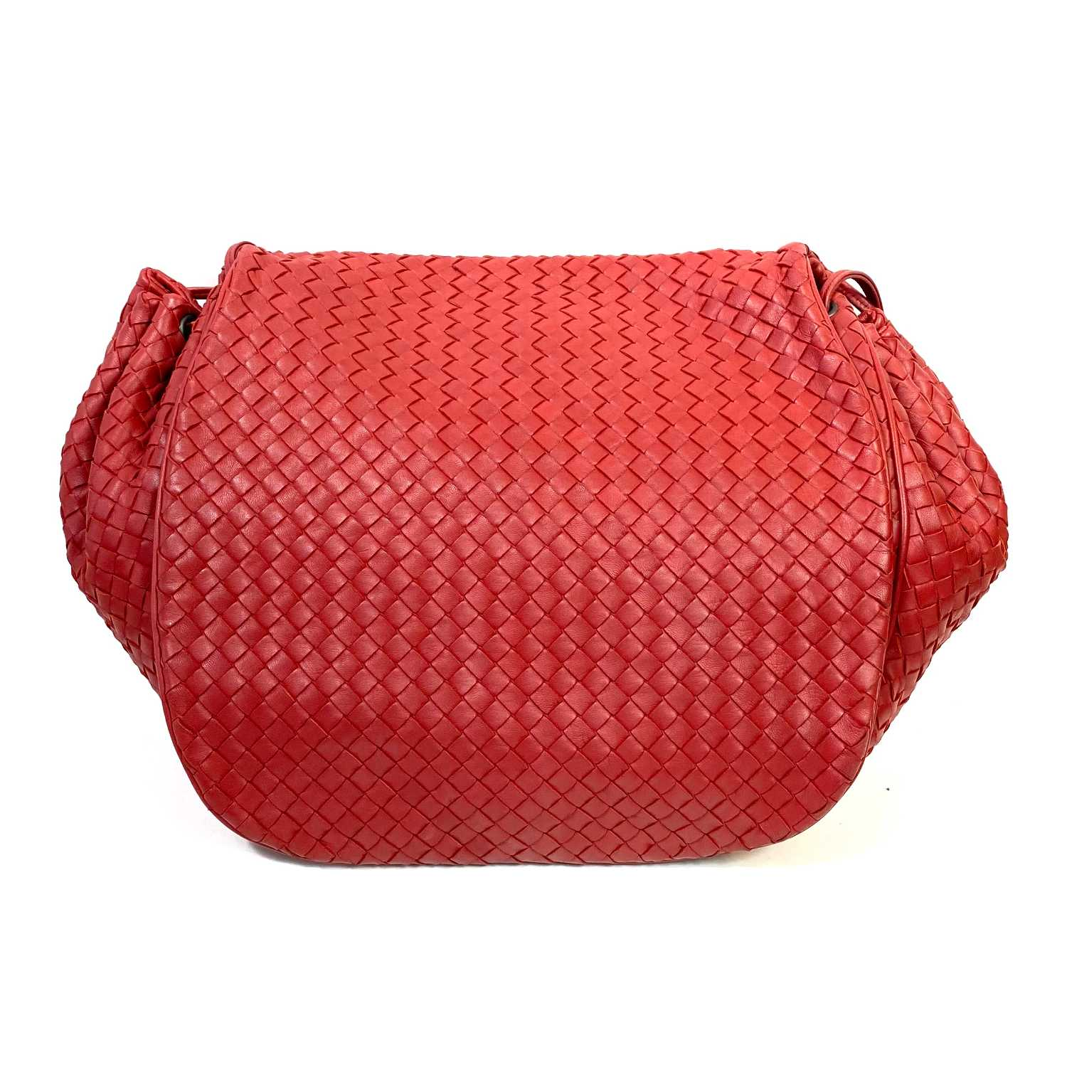 Bolsa Bottega Veneta Accordion Vermelha