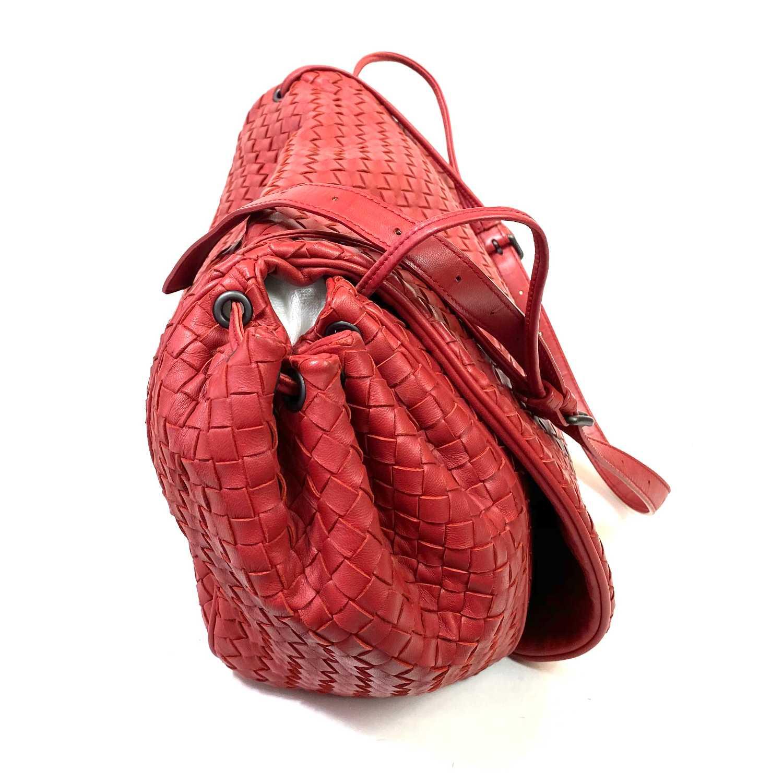 Bolsa Bottega Veneta Accordion Vermelha