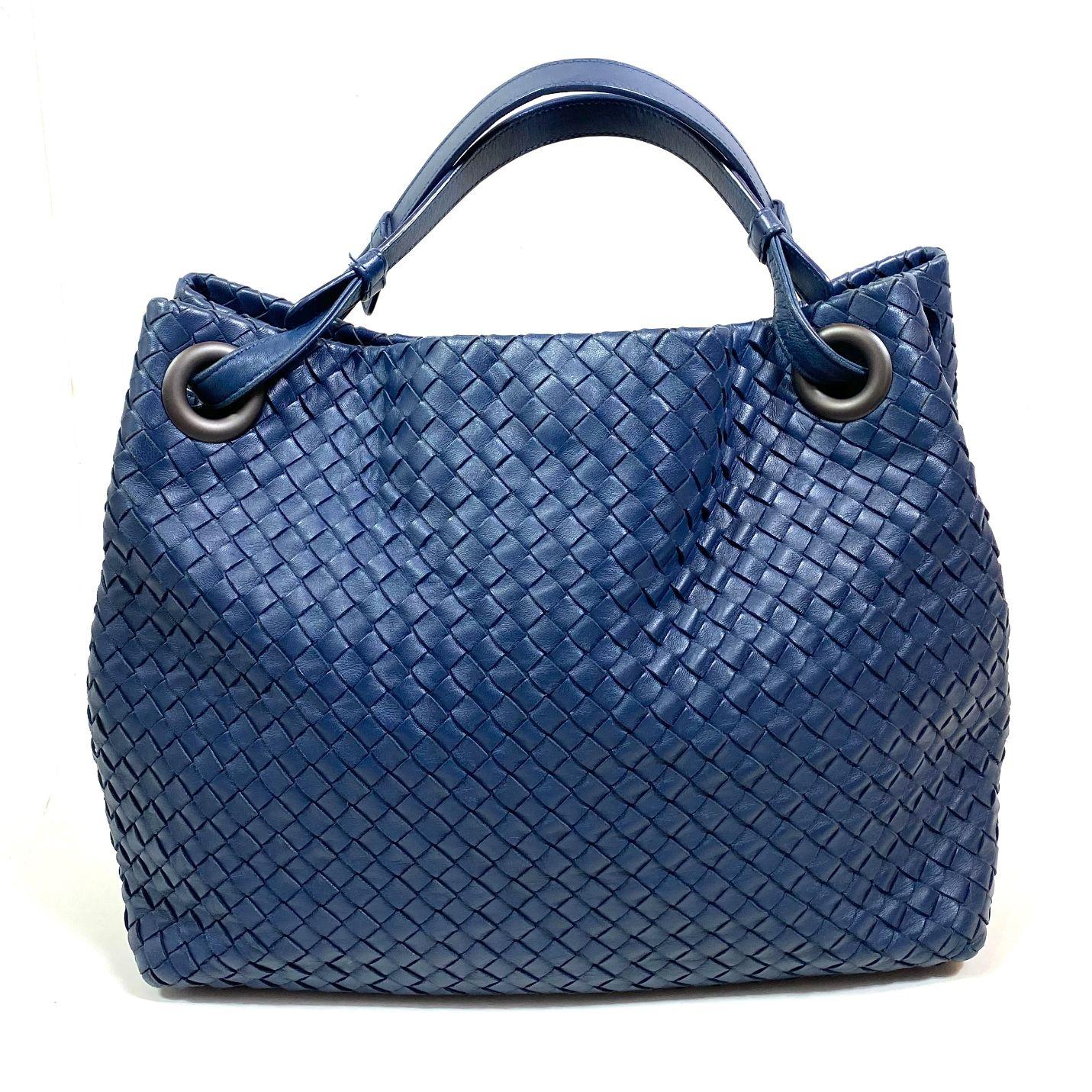 Bolsa Bottega Veneta Guarda Intrecciato Azul