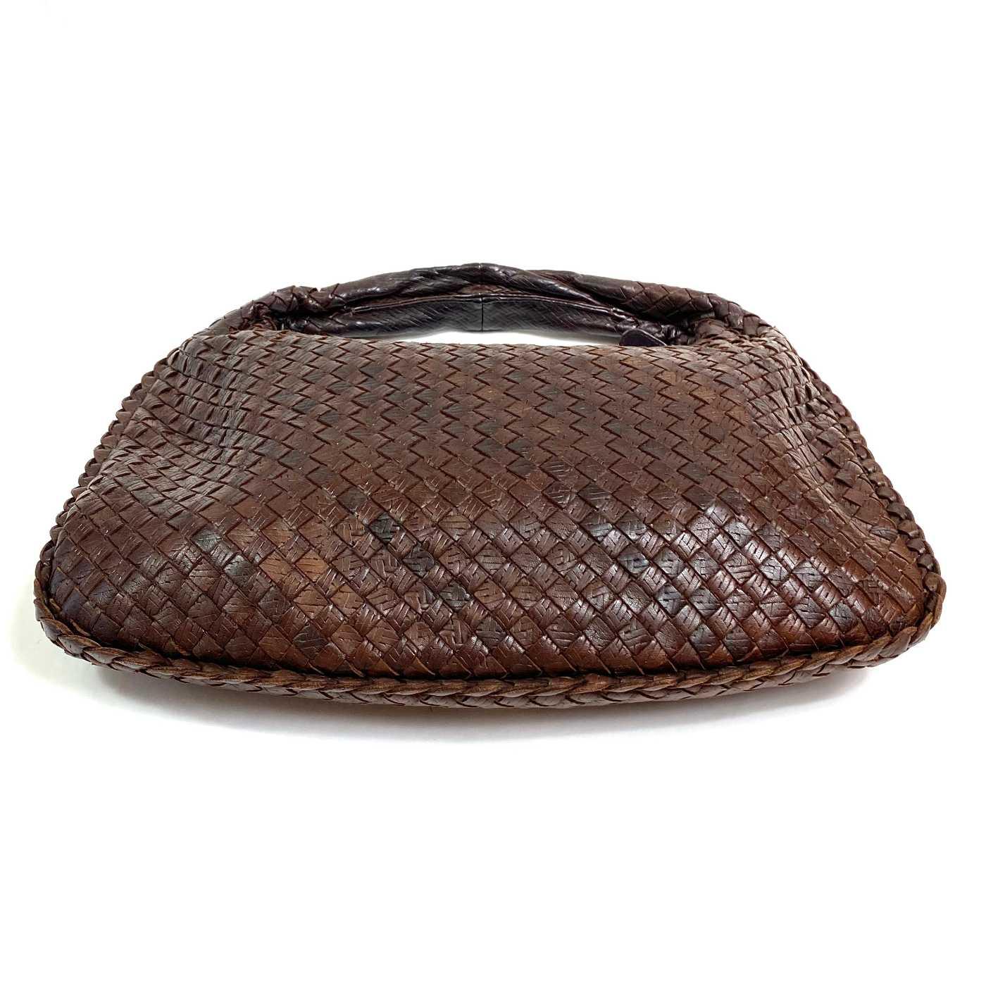 Bolsa Bottega Veneta Hobo Textured Intrecciato Marrom