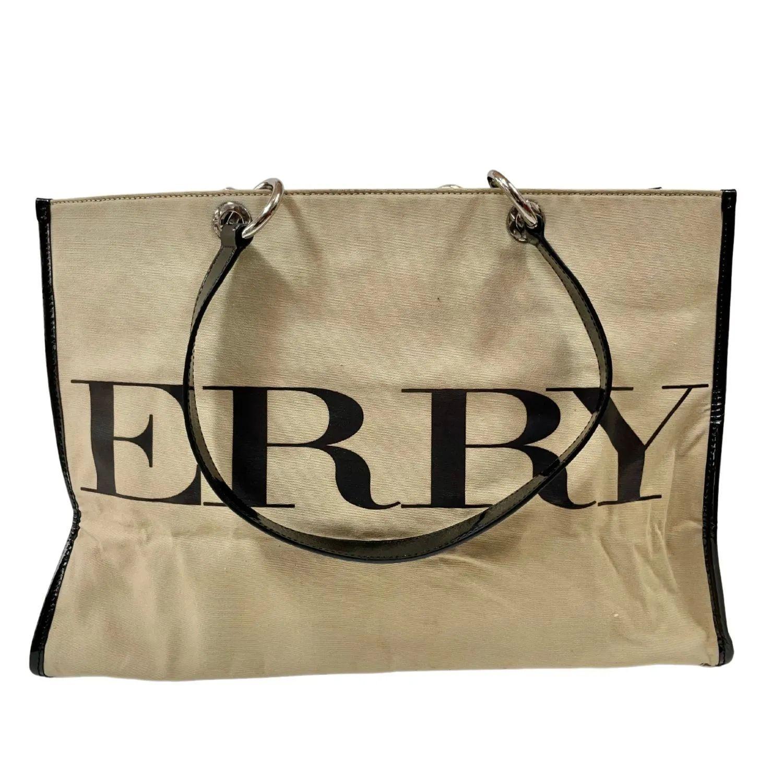 Bolsa Burberry Logo Print Tote Beige