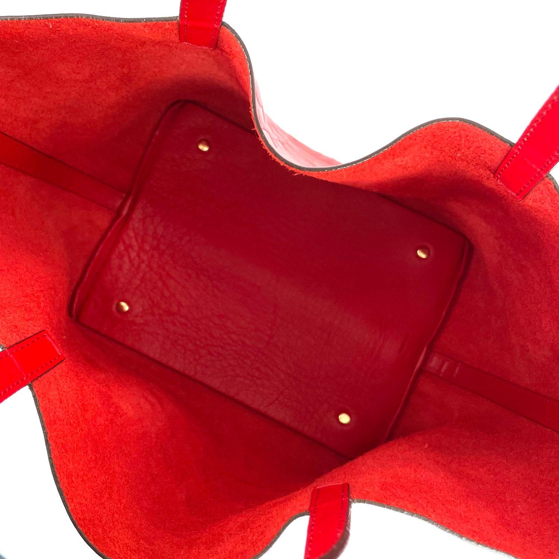 Bolsa Carolina Herrera Matryoshka Vermelha