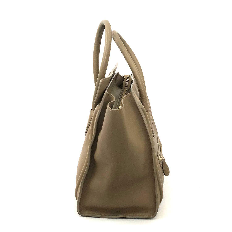 Bolsa Celine Luggage Beige