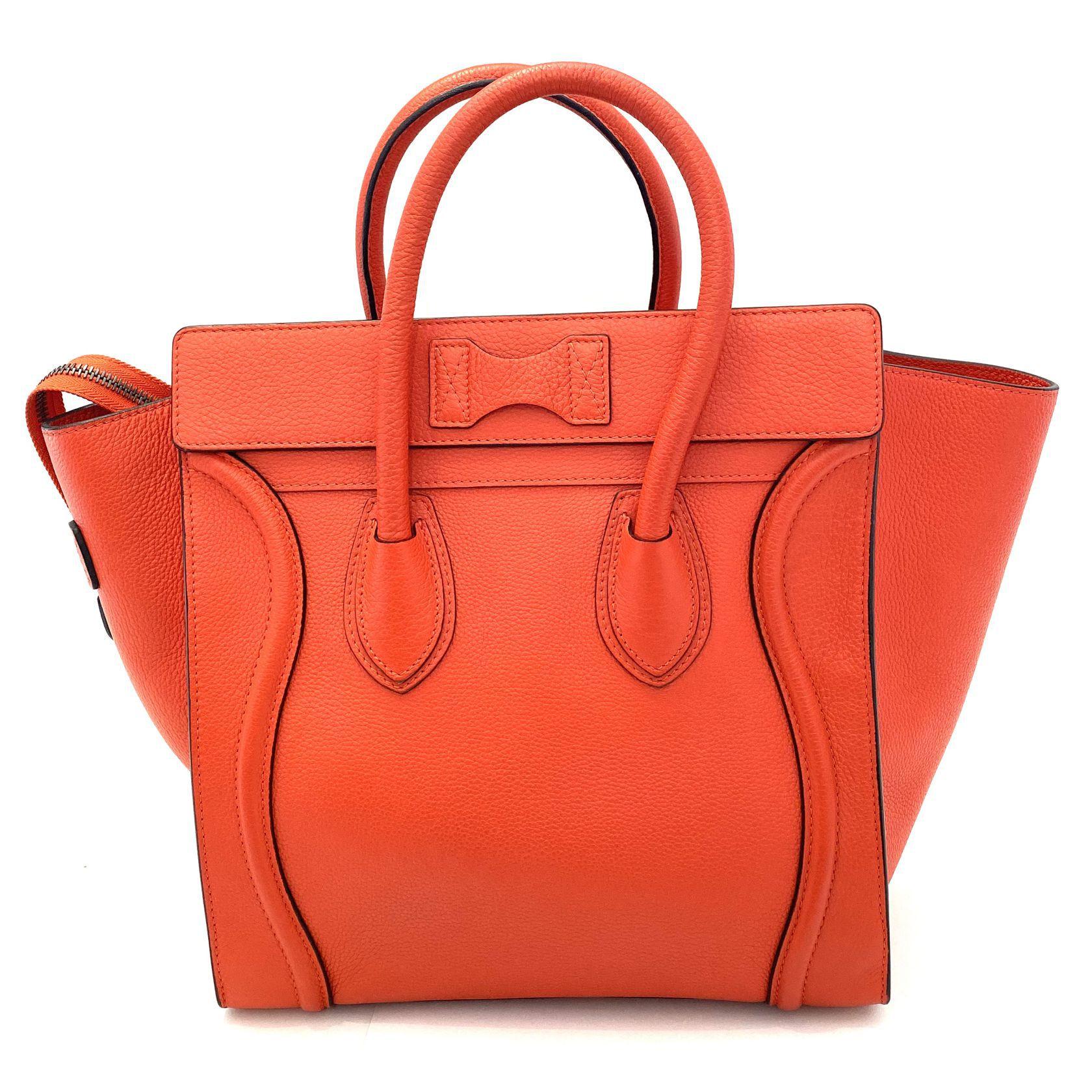 Bolsa Celine Luggage laranja