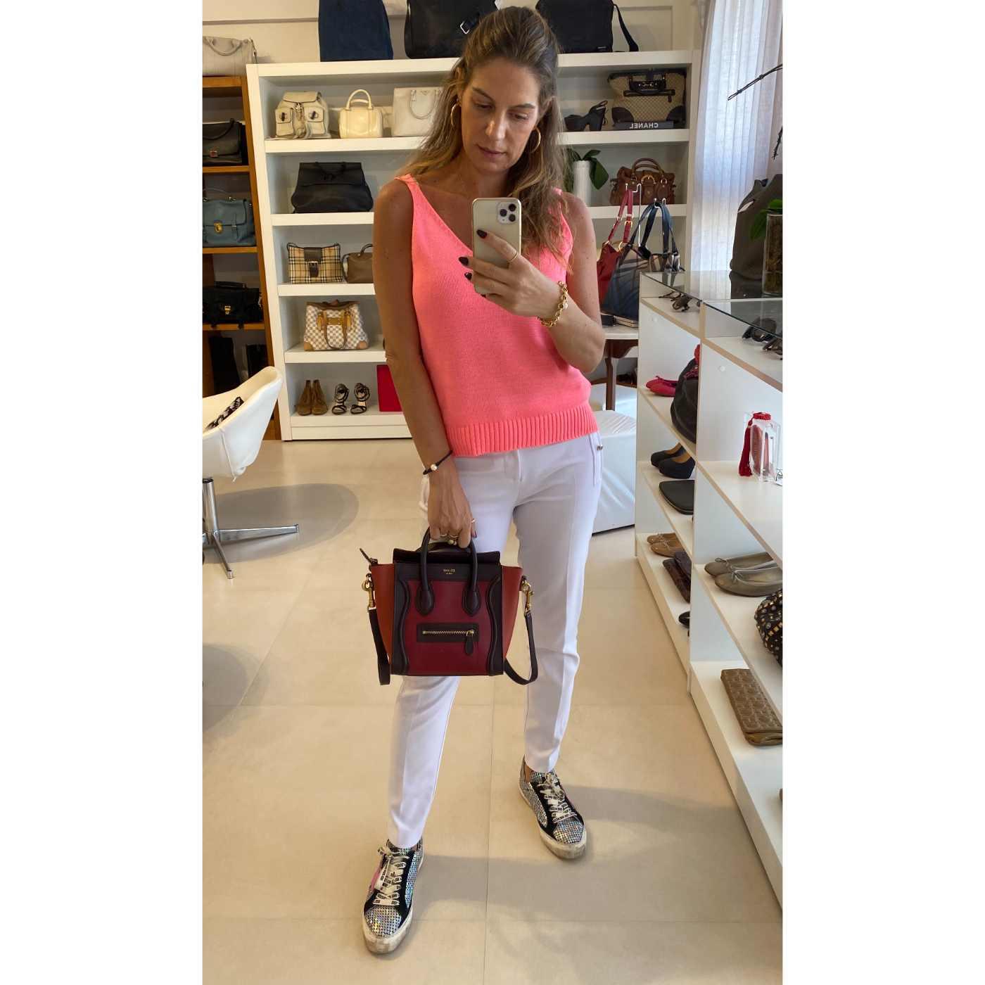 Bolsa Celine Luggage Mini Tricolor