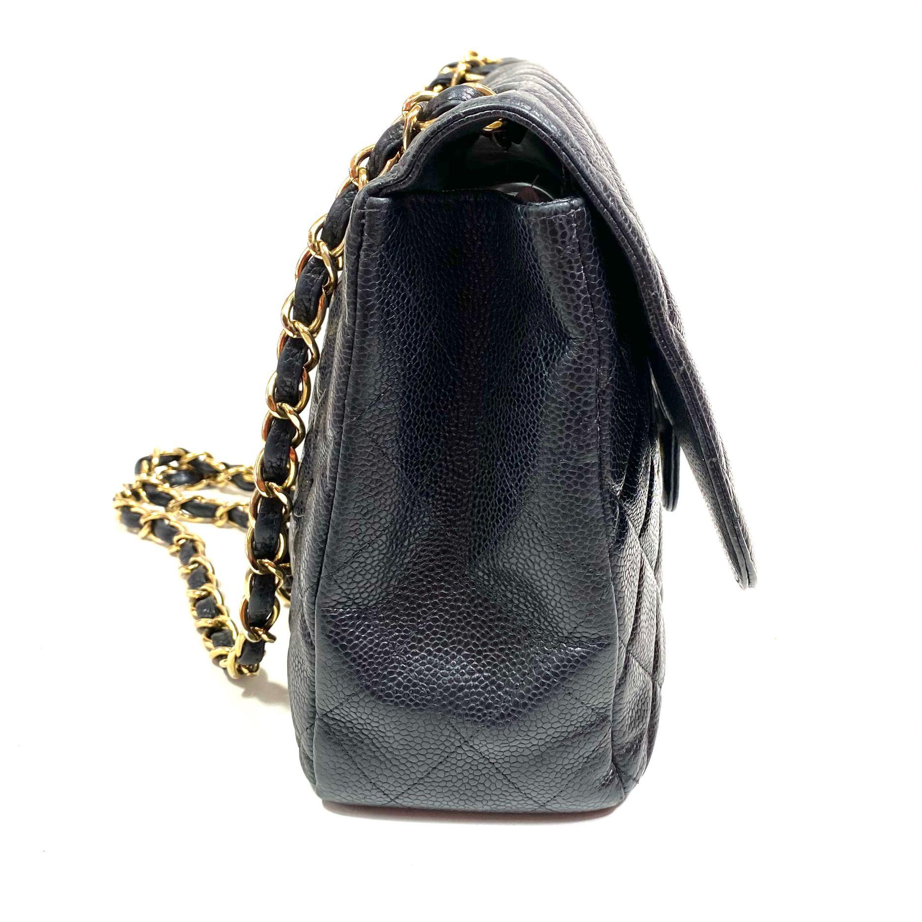Bolsa Chanel Caviar 2.55 Preta