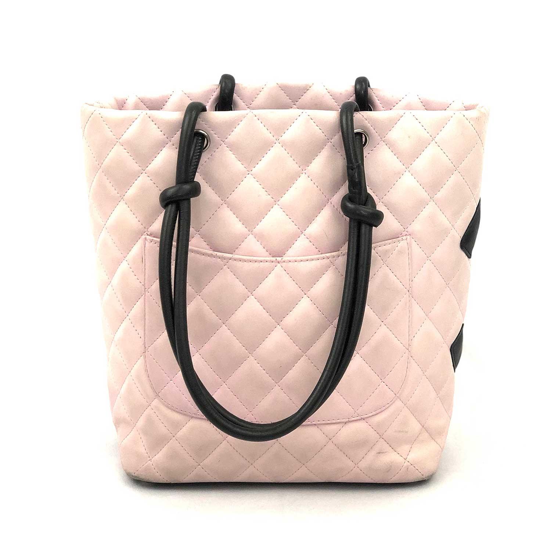 Bolsa Chanel Cambon Rosa e Preto