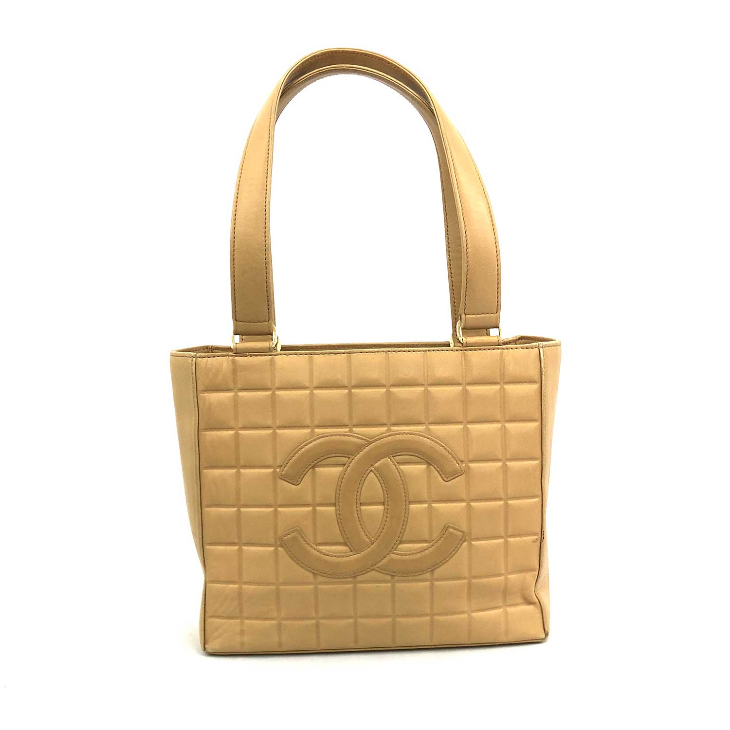 Bolsa Chanel Chocolate Bar Small Tote Beige