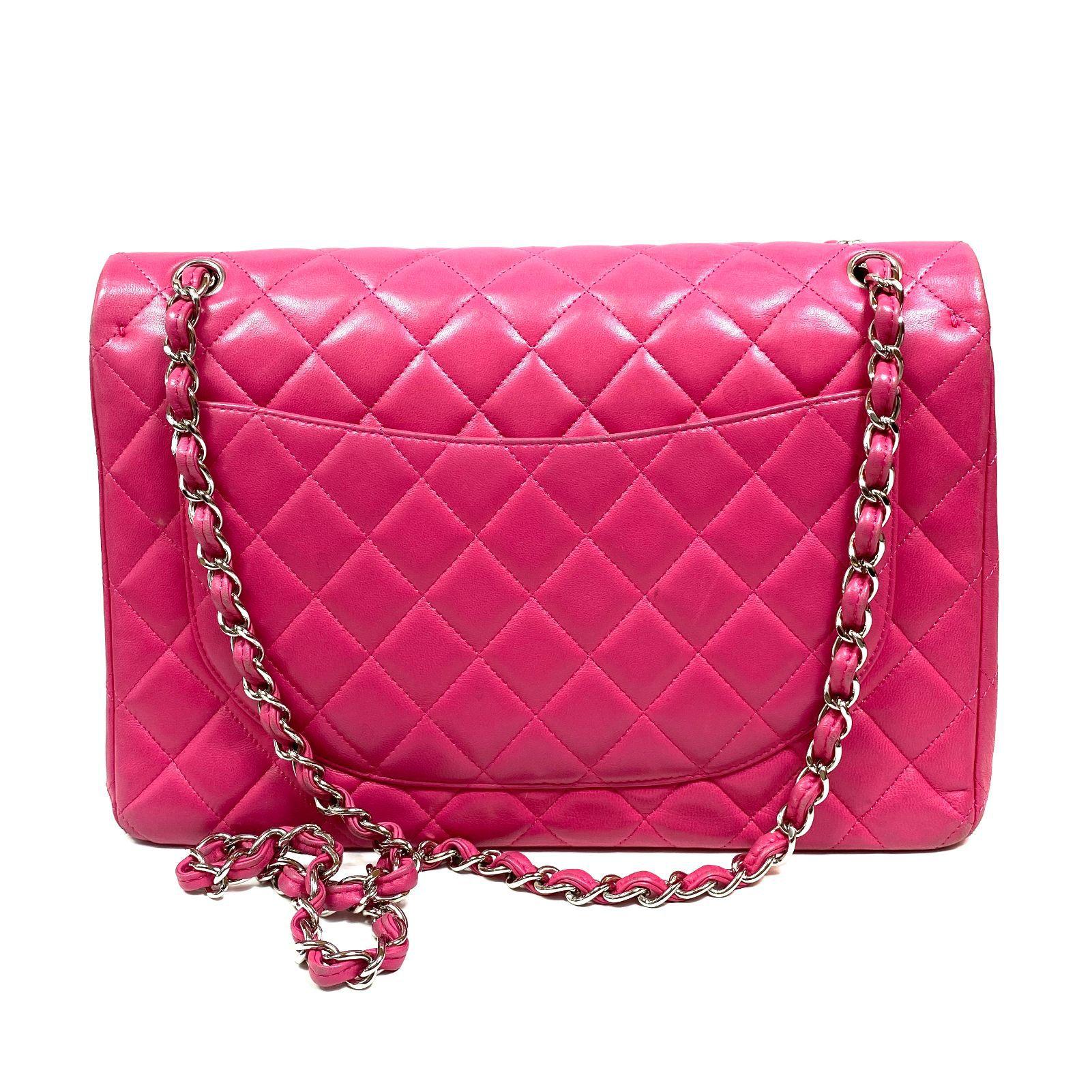 Bolsa Chanel Jumbo Lambskin 2.55 Rosa