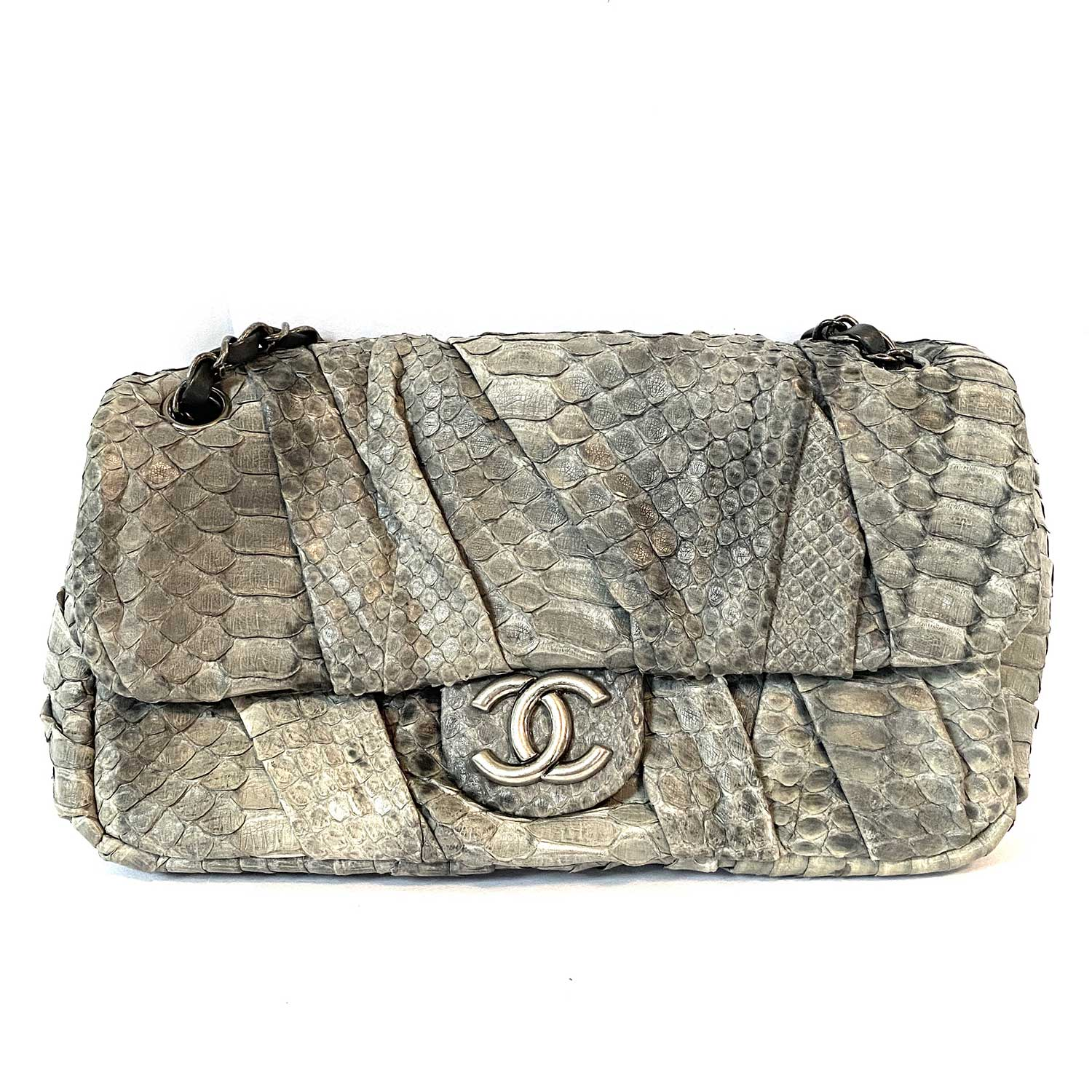 Bolsa Chanel Pyton Outdoor Ligne Flap