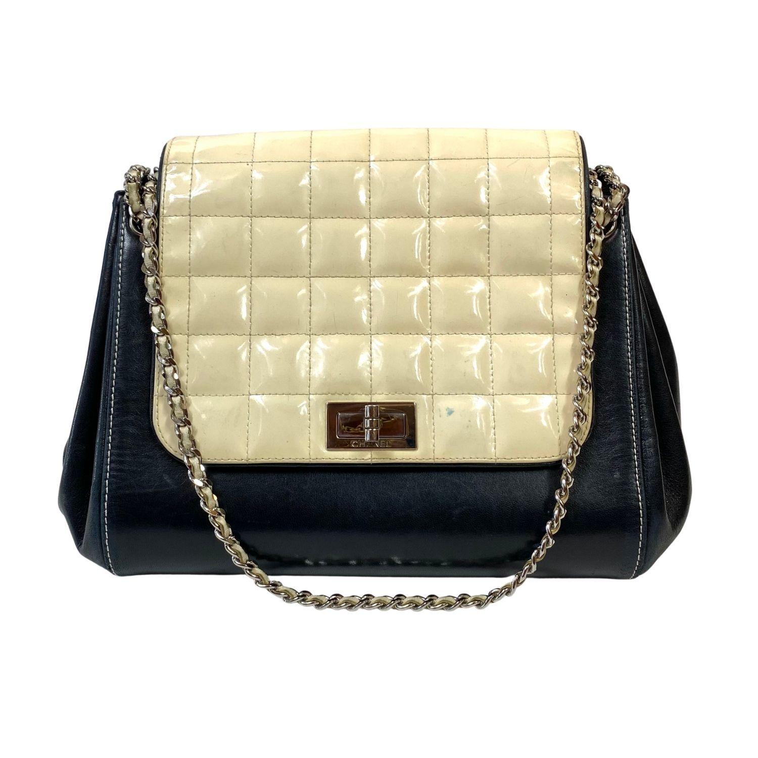 Bolsa Chanel Square Quilt Accordion Bicolor