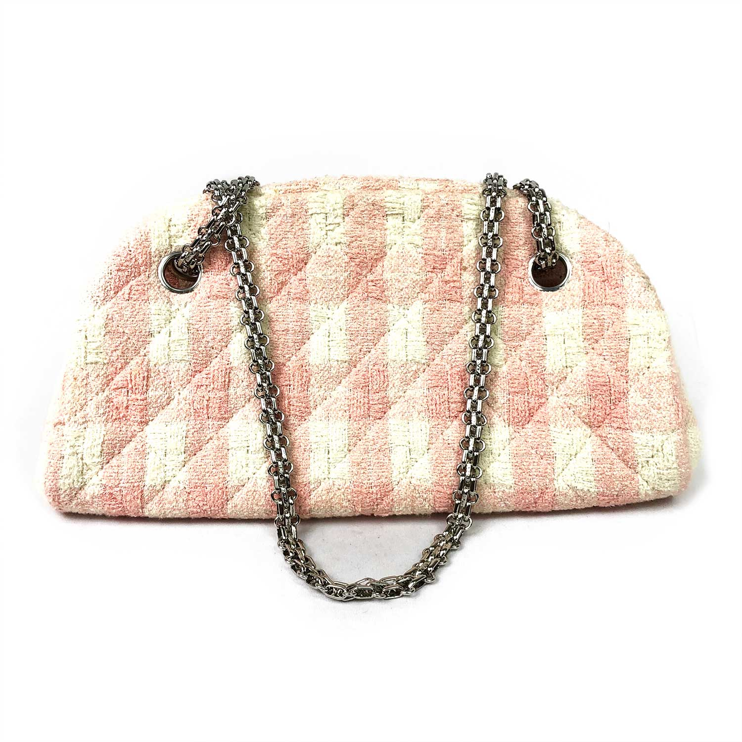 Bolsa Chanel Tweed Rosa e Offwhite