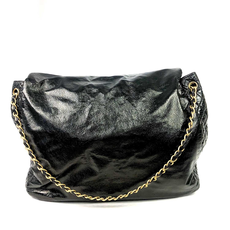 Bolsa Chanel Vinil Rock and Chain Flap Preta
