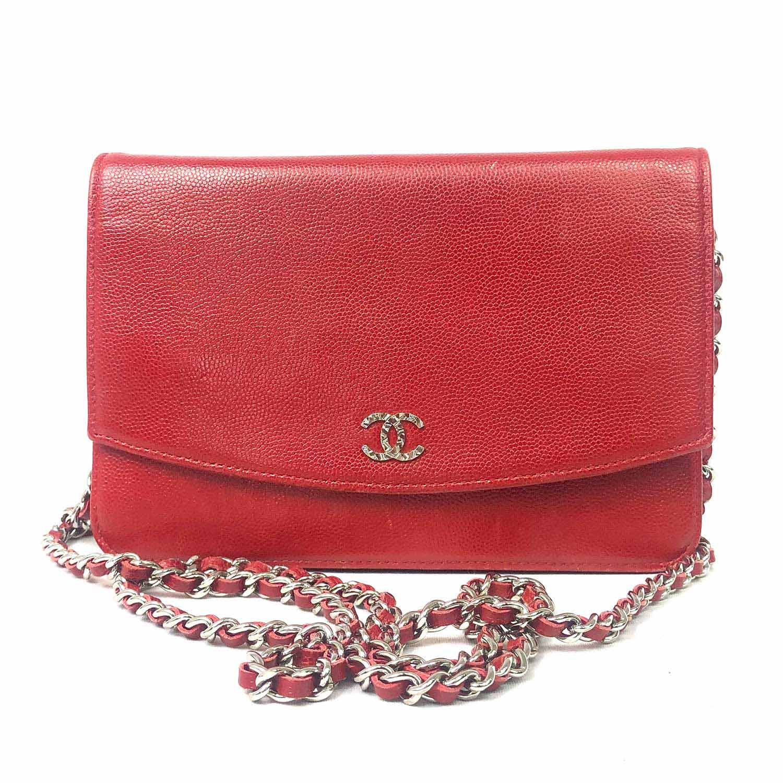 Bolsa Chanel Woc Vermelha