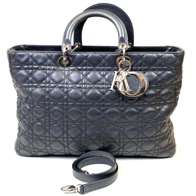 Bolsa Christian Dior Lady Dior Large Preta