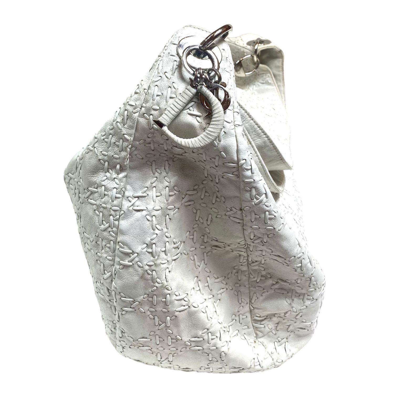 Bolsa Christian Dior Pesponto Hobo Offwhite