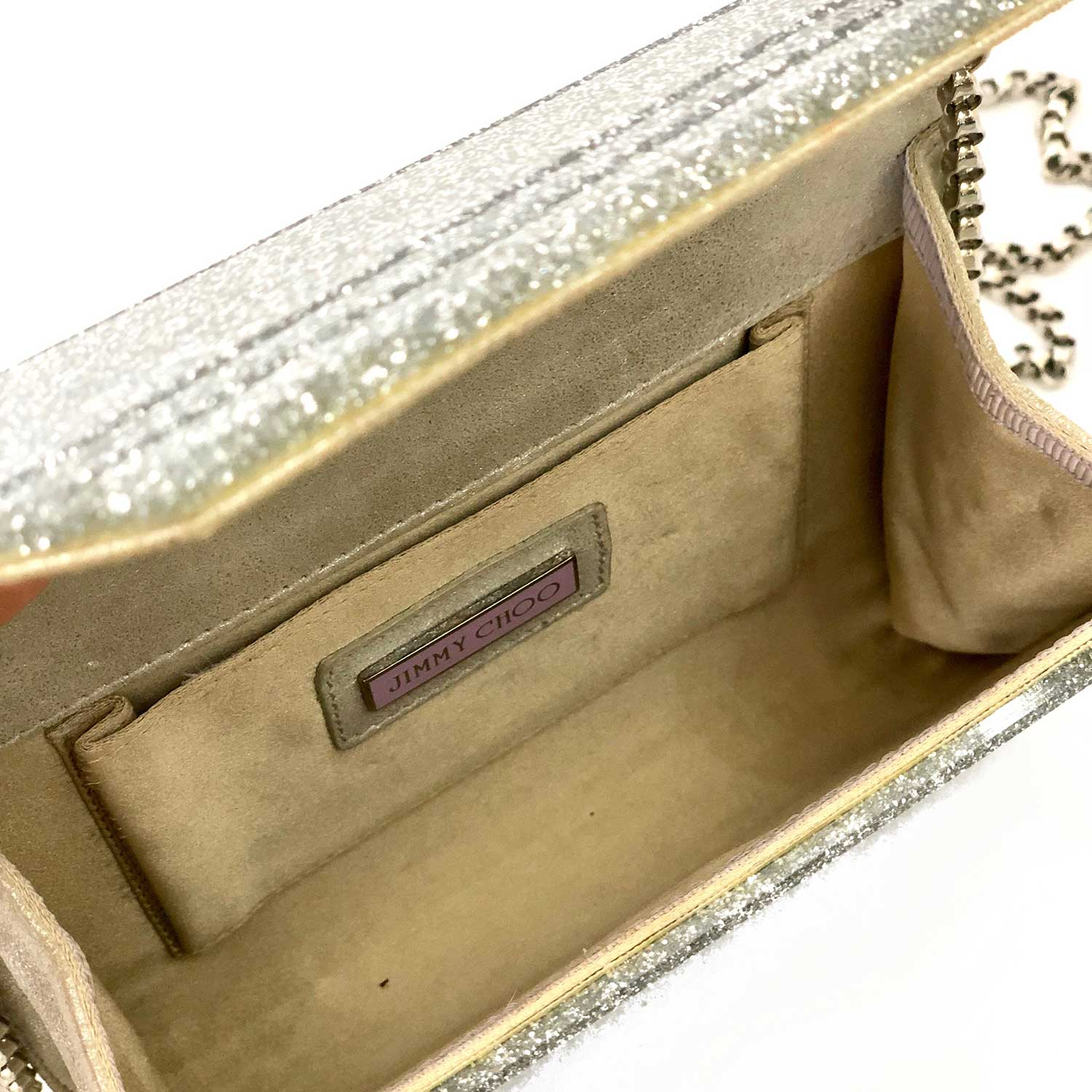Clutch Candy Jimmy Choo Prata