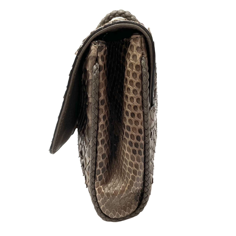Bolsa Clutch Gucci Python