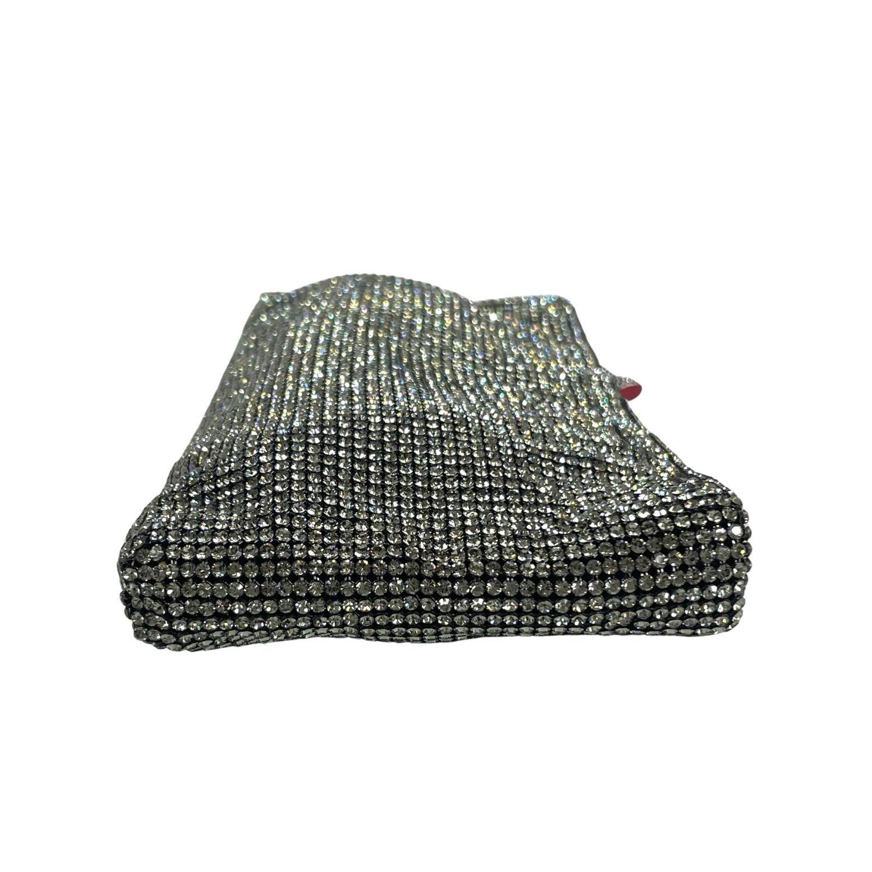 Bolsa Clutch Louboutin Chainmail Embellished